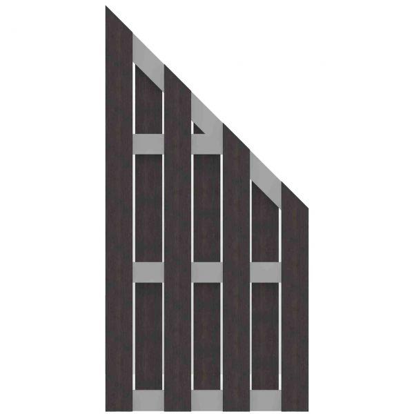 Sichtschutzzaun WPC, SOLID-ALU anthrazit