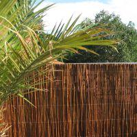Weidenmatte, Sichtschutzmatte Provence dunkel Höhe x Breite: 90 x 300 cm