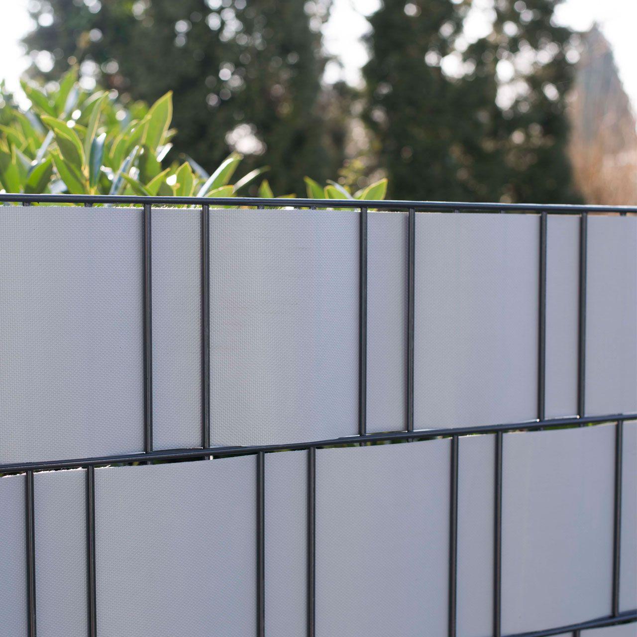 PVC Flex Sichtschutzstreifen Doppelstabmattenzaun aluminium