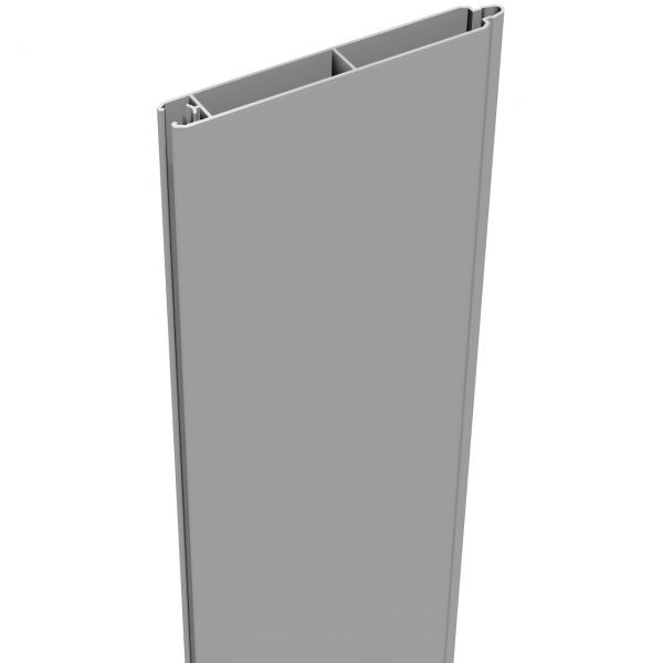 Aluminium Sichtschutz Steckzaun LUMINO, Einzelfüllung silbergrau