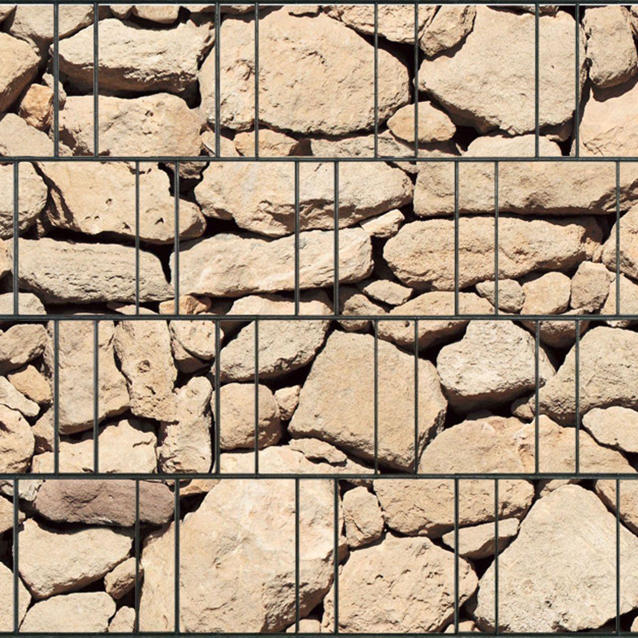 Sichtschutzstreifen bedruckt Motiv Naturstein Ibiza