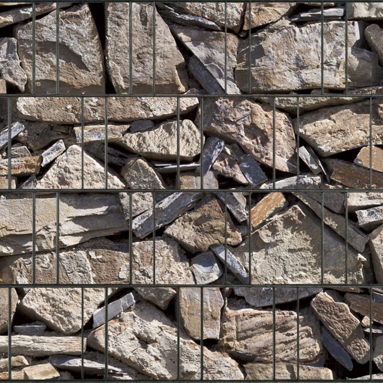 Sichtschutzstreifen bedruckt Motiv Naturstein Provence