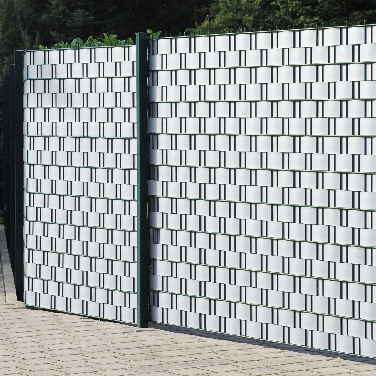 Sichtschutzstreifen Hart PVC Woodline aluminium