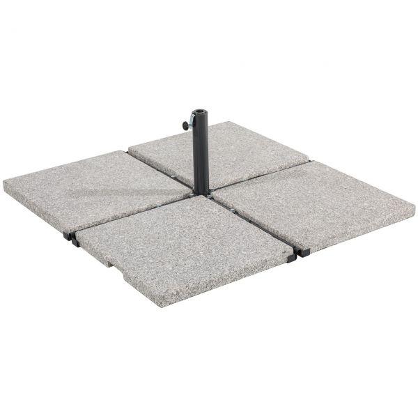 Platten-Sonnenschirmständer für Wegeplatten, anthrazit