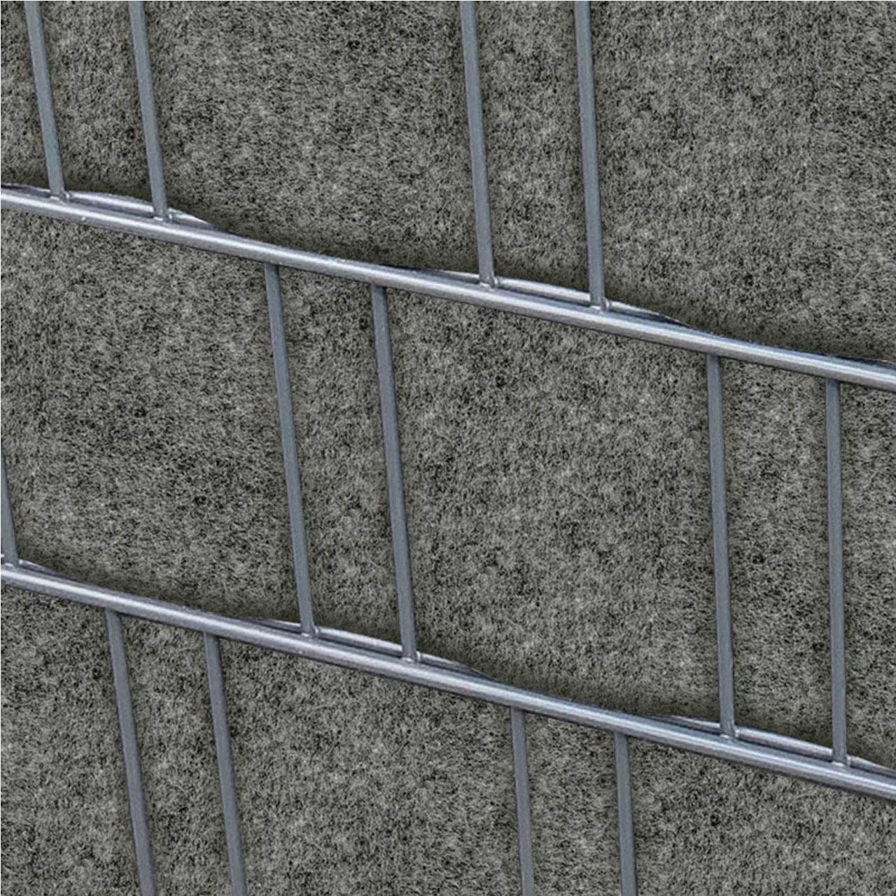 Sichtschutzstreifen Pes Gewebe Fur Stabgitterzaun Grau