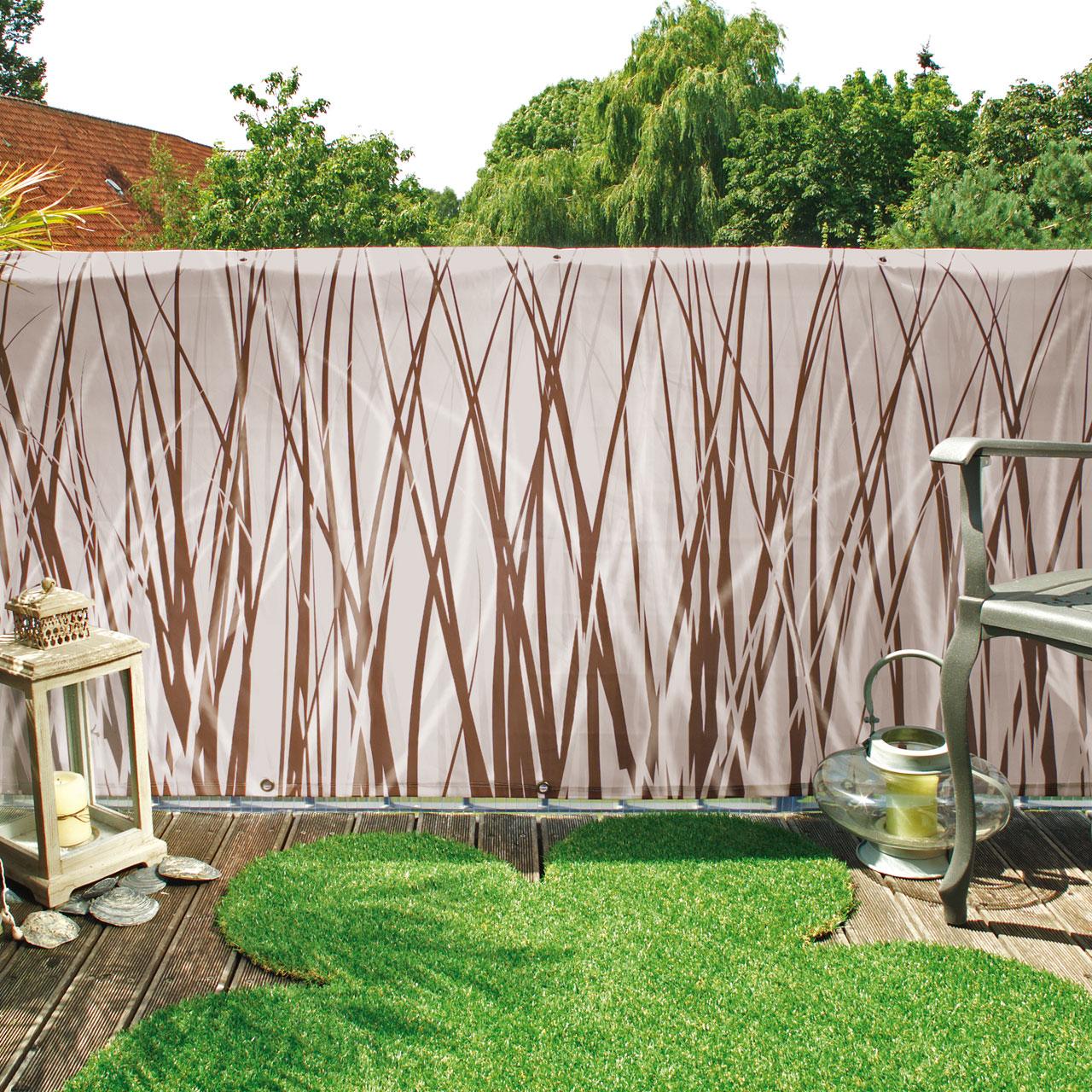 balkon banner style braun beige sichtschutz. Black Bedroom Furniture Sets. Home Design Ideas
