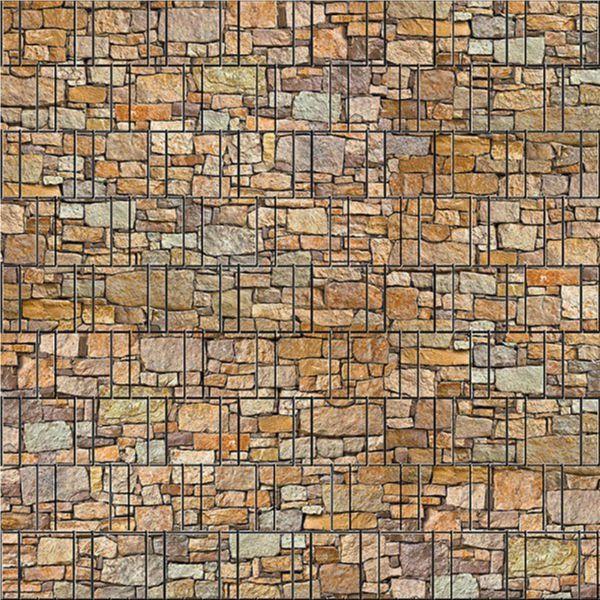 Sichtschutzstreifen bedruckt, Motiv bunter Stein Cordoba