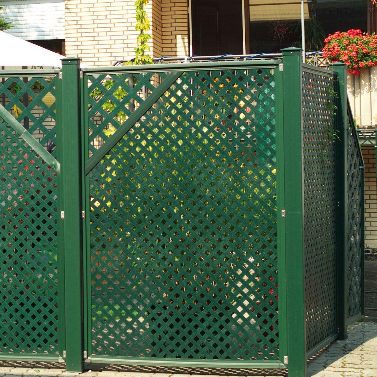 Sichtschutzwand Kunststoff Coventry Diamant Zierecke
