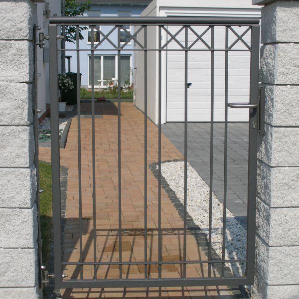 Pforte - Metallzaun Parkallee H: 150cm