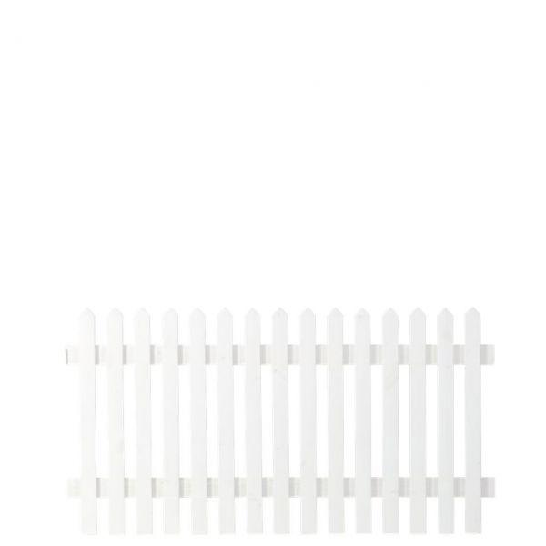 Gartenzaun Holz Skagen, weiß 80 cm