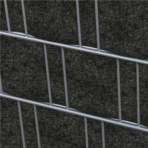 Sichtschutzstreifen PES Gewebe für Stabgitterzaun, Mailand anthrazit