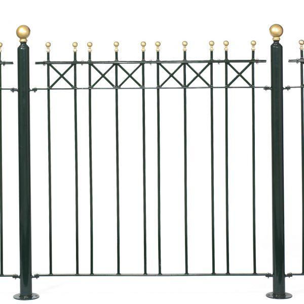 Zaunelement - Metallzaun Parkallee Classic Kugel H: 120cm