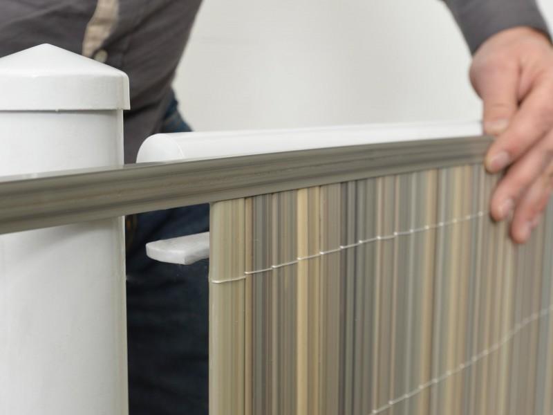 sichtschutzzaun kunststoff aus pvc sichtschutzmatten. Black Bedroom Furniture Sets. Home Design Ideas