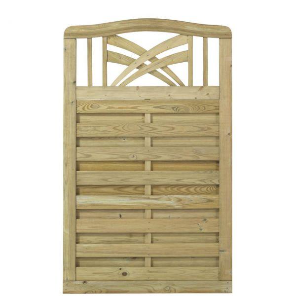 Holz Sichtschutz-Zaun, Ronda, druckimprägniert