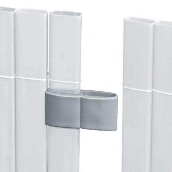 Mattenverbinder für Sichtschutzmatte Rügen, aluminium