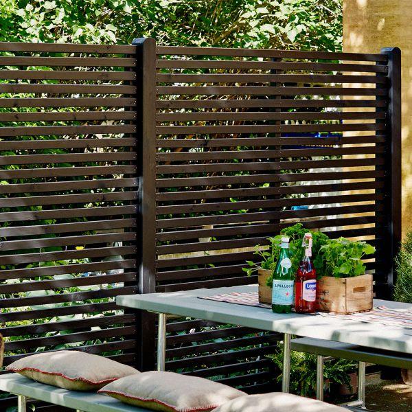 Holz Sichtschutz-Zaun, Toyko schwarz