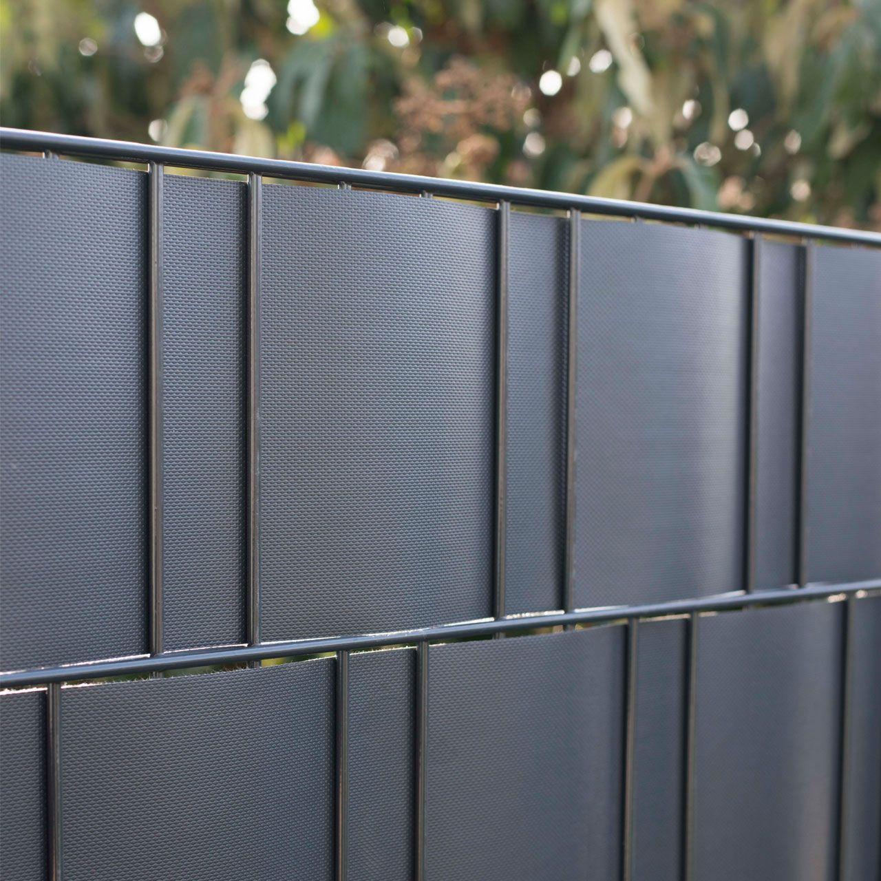 PVC Flex Sichtschutzstreifen Doppelstabmattenzaun anthrazit