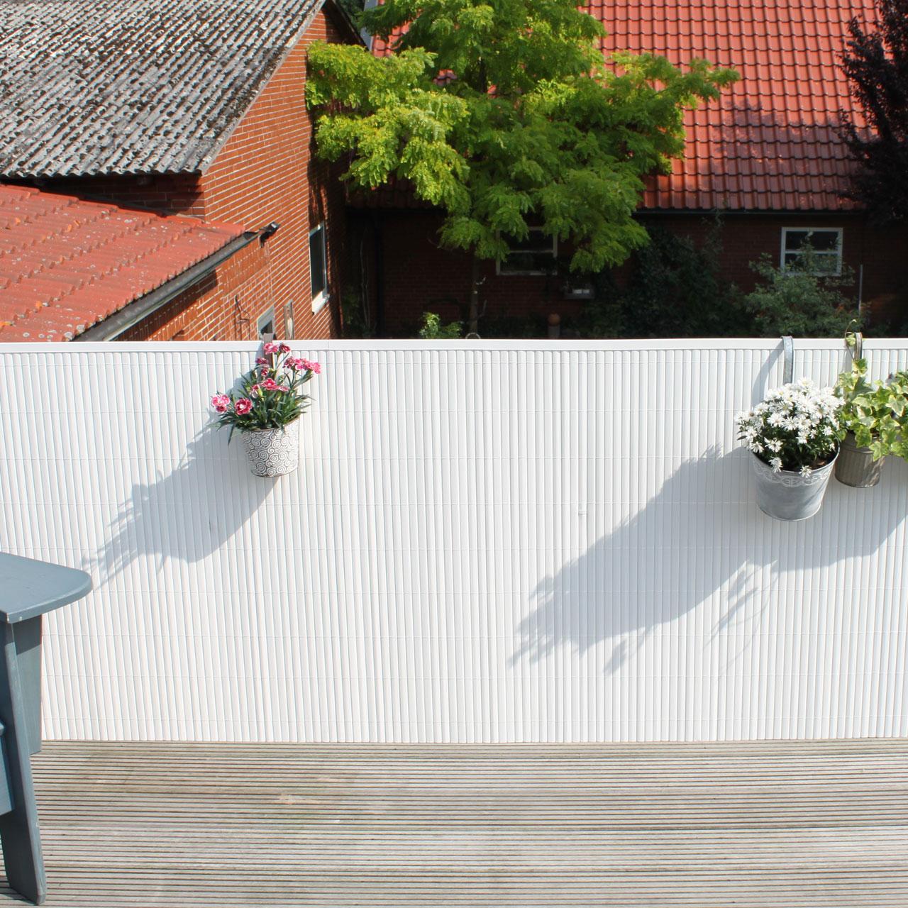 Sichtschutzmatte Pvc Kunststoff Rugen Weiss Sichtschutz Welt De