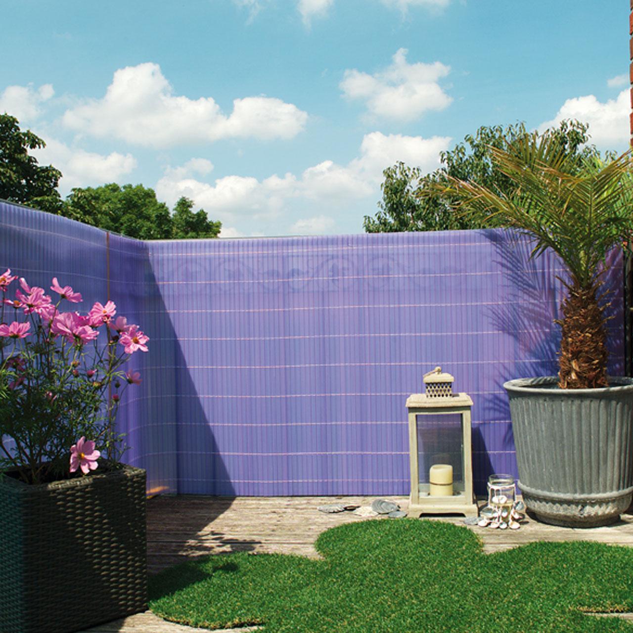 sichtschutzzaun pvc kunststoff montageset sunline flieder. Black Bedroom Furniture Sets. Home Design Ideas