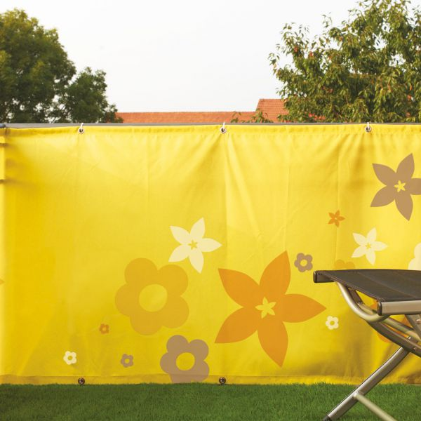 Balkonverkleidung Banner Flower, gelb