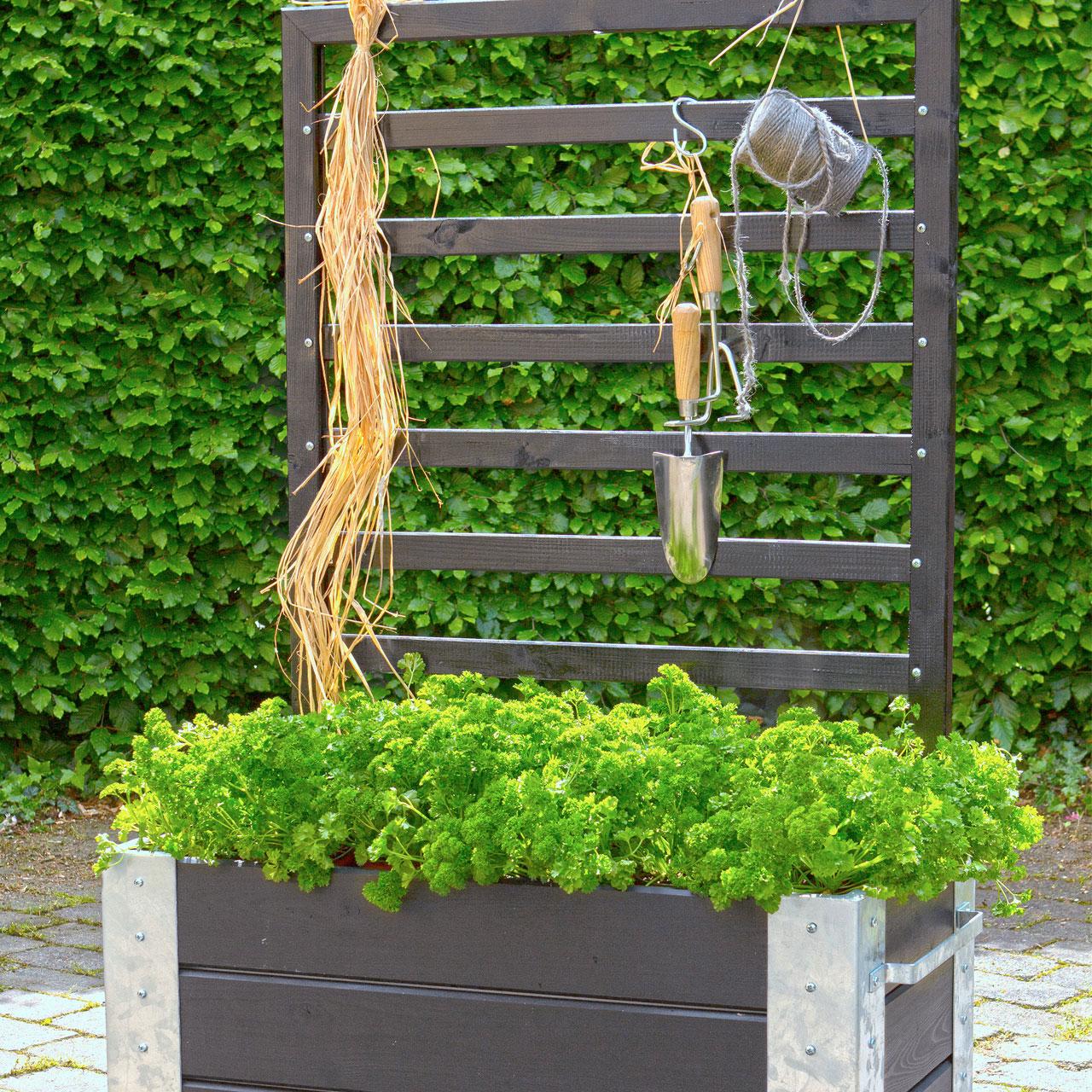 Mobiler Blumenkasten Mit Rankgitter Cubic H 45 130 Cm