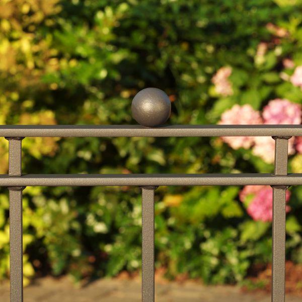Zaunelement - Metallzaun Gartenstraße Kugel H: 90cm