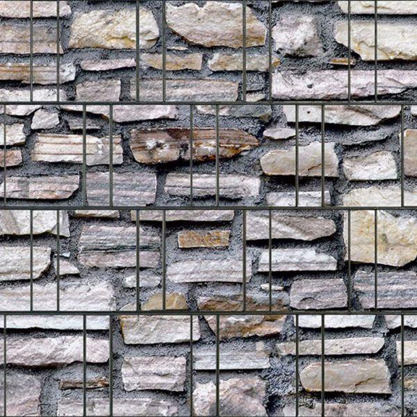 Sichtschutzstreifen bedruckt, Motiv Steinmauer Marmor