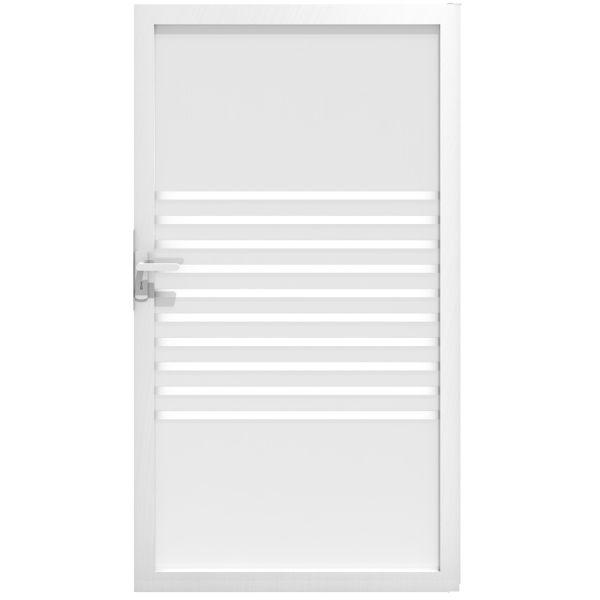 Tor Sichtschutz Glaszaun Ambiente, Streifen