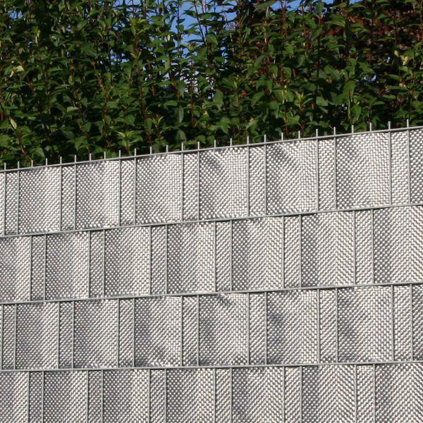 Polyrattan-Sichtschutzstreifen, silber/anthrazit