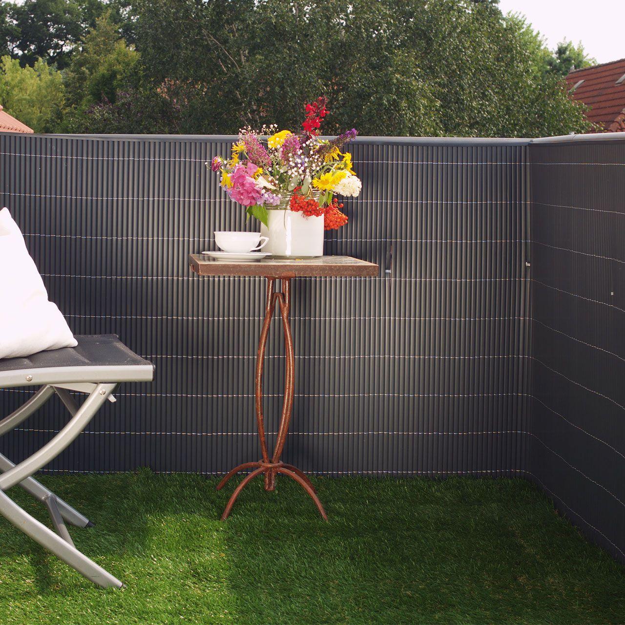 Sichtschutz Garten Kunststoff Anthrazit Cool Zaun Matten