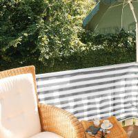 Balkonbespannung PE, Classic grau/weiß Höhe x Breite:90 x 300 cm