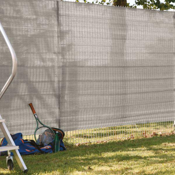 Garten-Sichtschutz Zaunblende, beige/anthrazit meliert