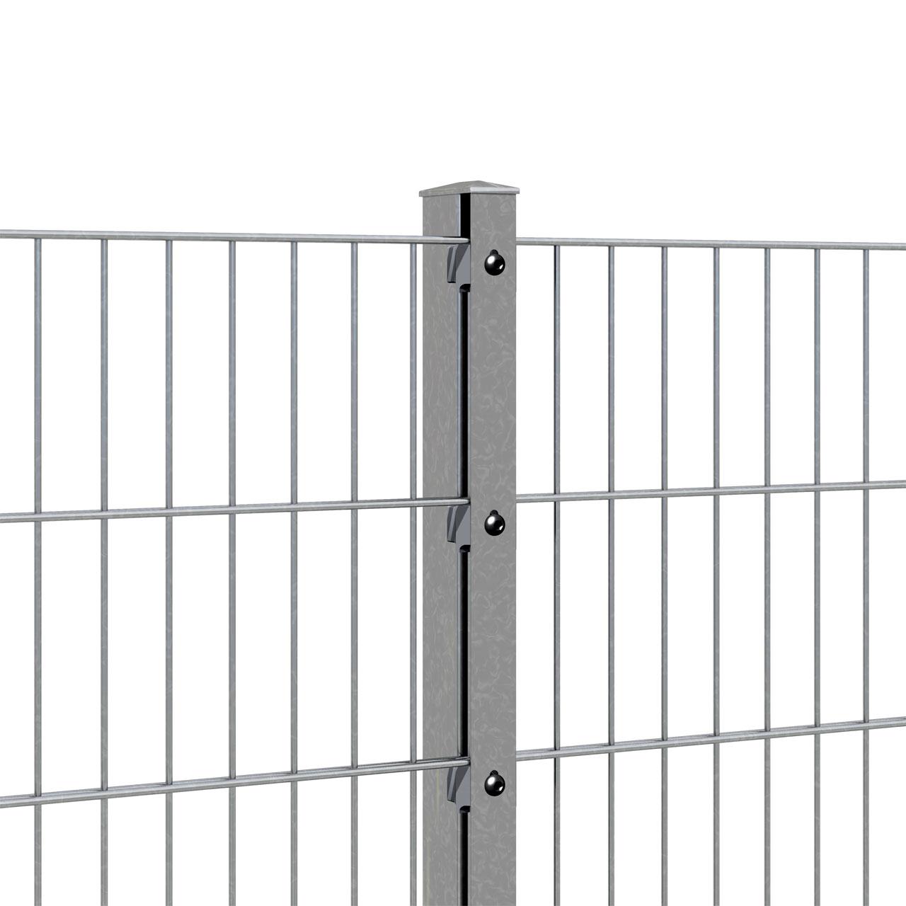 Zaunpfosten für Doppelstabmatte 160cm verzinkt