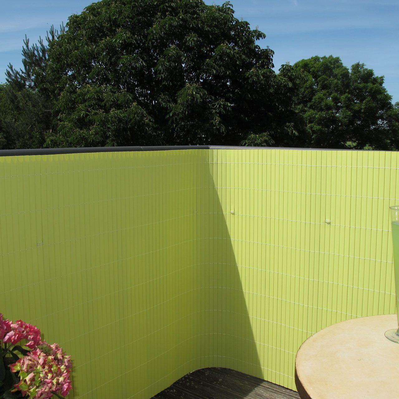 Sichtschutzmatte PVC Kunststoff Rügen pastellgrün