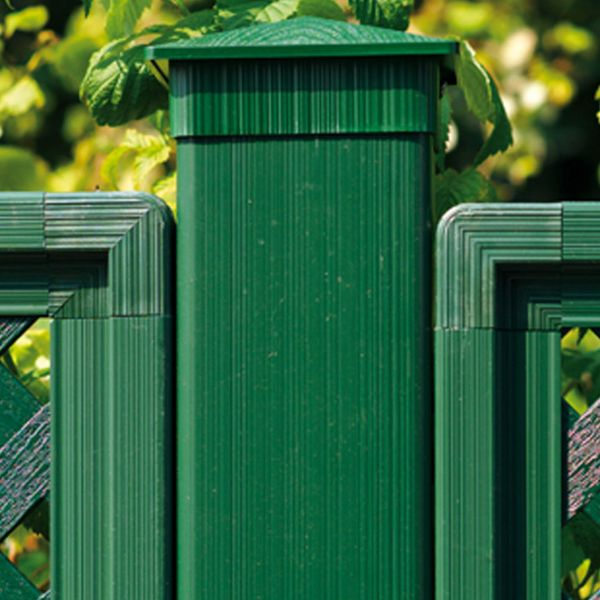 Kunststoff-Pfosten 10x10cm, Oxford grün