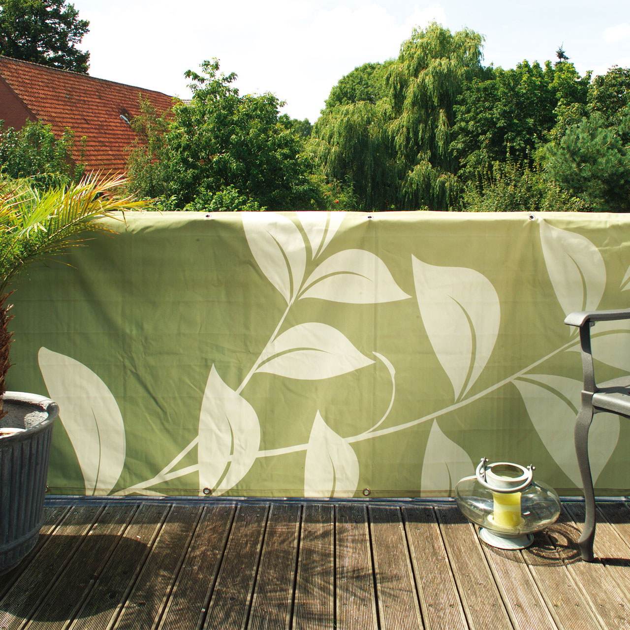 balkon banner natura gr n sichtschutz. Black Bedroom Furniture Sets. Home Design Ideas