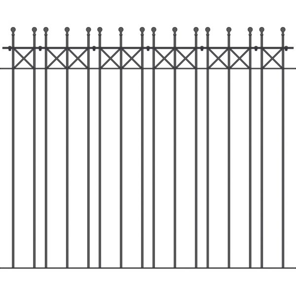 Zaunelement - Metallzaun Parkallee Classic Kugel H: 150cm