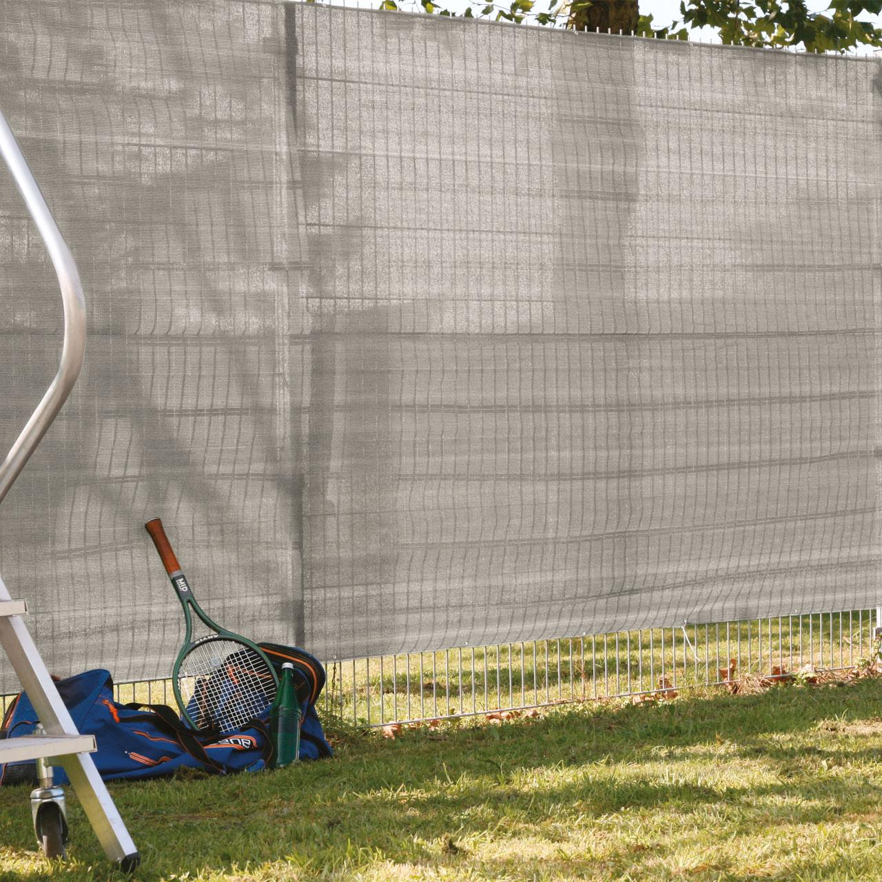 Garten Sichtschutz Zaunblende Beige Anthrazit Meliert
