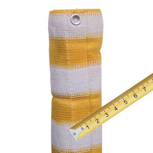 Balkonbespannung PE Meterware, Classic gelb/weiß