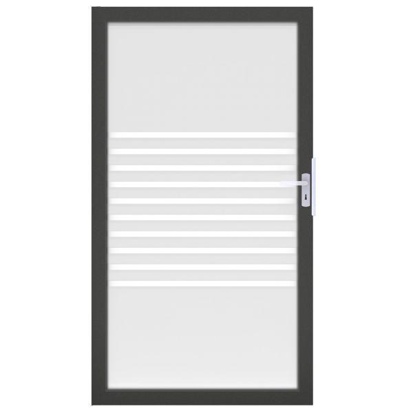 Tor Sichtschutz Glaszaun Ambiente, Streifen/anthrazit