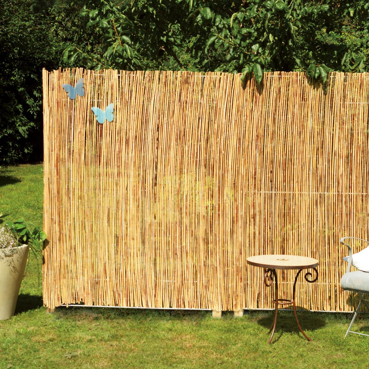 bambusmatte gef llt sichtschutzzaun macao natur. Black Bedroom Furniture Sets. Home Design Ideas