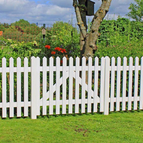 gartenzaun holz skagen, weiß 80cm, Garten und Bauten