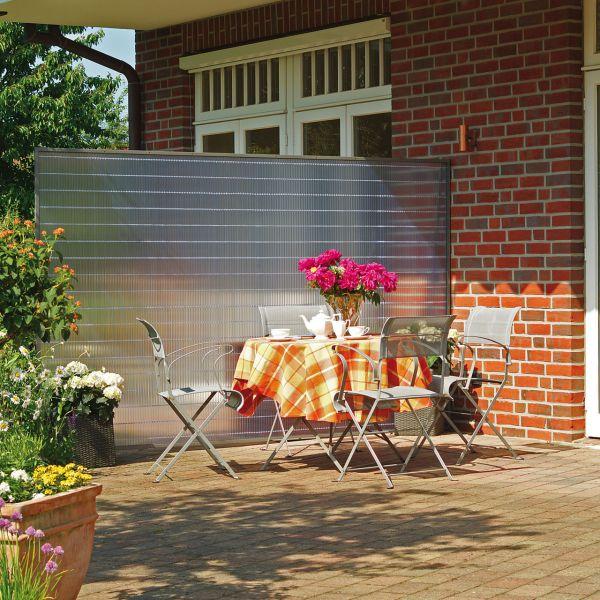 Sichtschutzzaun Kunststoff, Sunline transparent