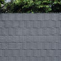 PE Sichtschutzstreifen Doppelstabmattenzaun, anthrazit Höhe x Länge:19 x 200 cm