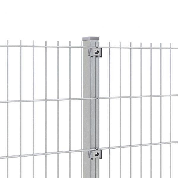 Zaunpfosten für Doppelstabmatte 140cm, verzinkt