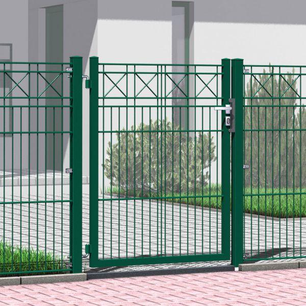 Gartentor Metall Schmuckzaun mit Kreuz 120cm