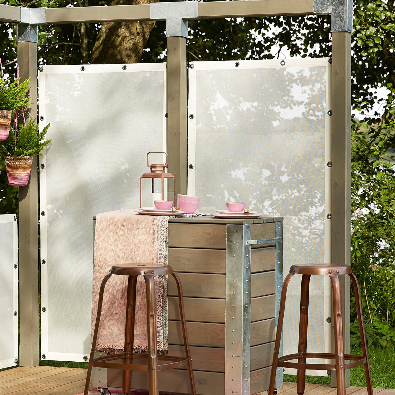 windbreaker weiss sichtschutz. Black Bedroom Furniture Sets. Home Design Ideas