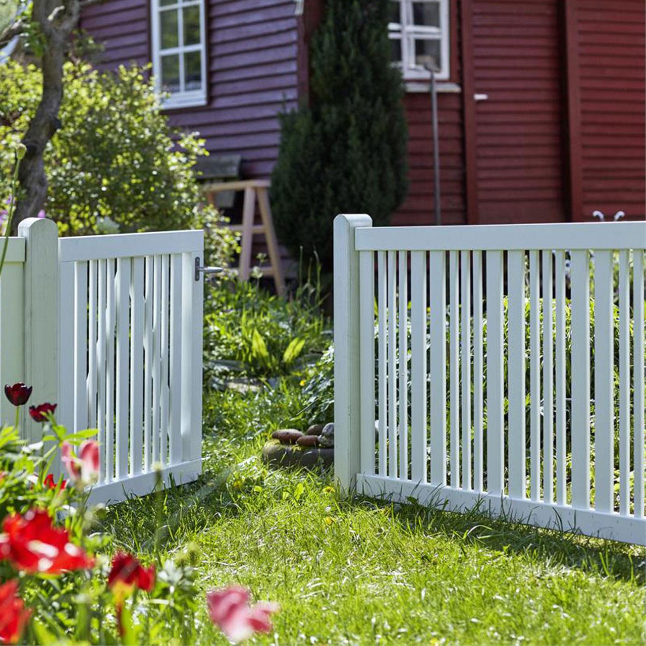 Gartenzaun Holz Classico Weiss