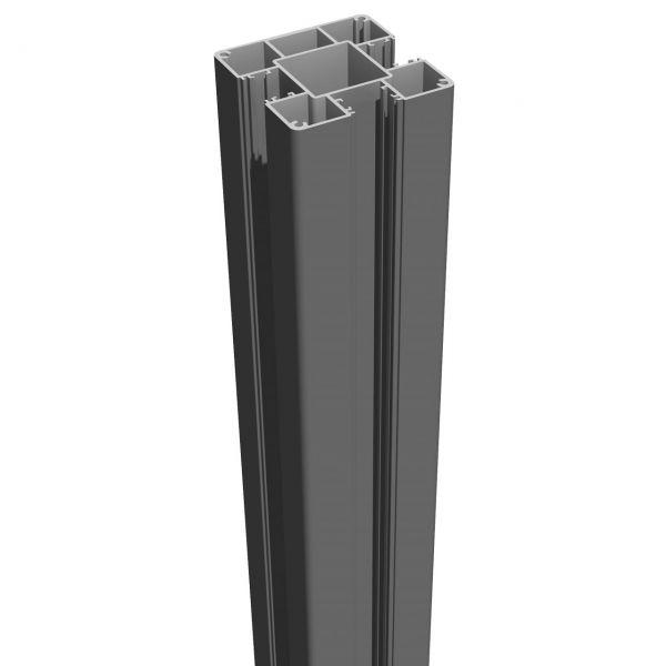 Pfosten 7x7 für Aluminium-Steckzaun LUMINO, anthrazit