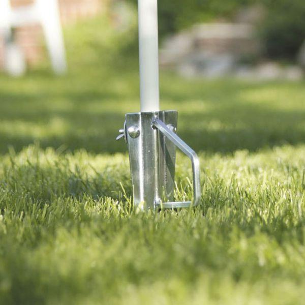 Sonnenschirmhalter Rasendorn, verzinkt